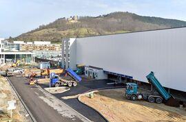 Das Parkhaus wird Anfang Mai eröffnet werden. (Foto: UKJ/Szabó)