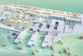 Modell des zweiten Bauabschnittes des UKJ in Lobeda. Am 29. August berichtet Dr. Karen Treuter bei der Abendvorlesung über die Planungen.