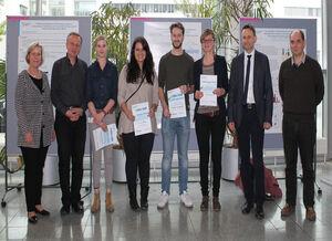 Stefan Englert, Mareike Klinger, Michael Ekaney, Dr. Katrin Hoffmann (v.r.n.l., Foto: S. Hornberger/UKJ)