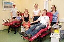 Hier noch beim Blutspenden an der Uniklinik Jena, ab dem 14. Juli dann auf der Bühne: der Psycho-Chor der FSU Jena e.V.